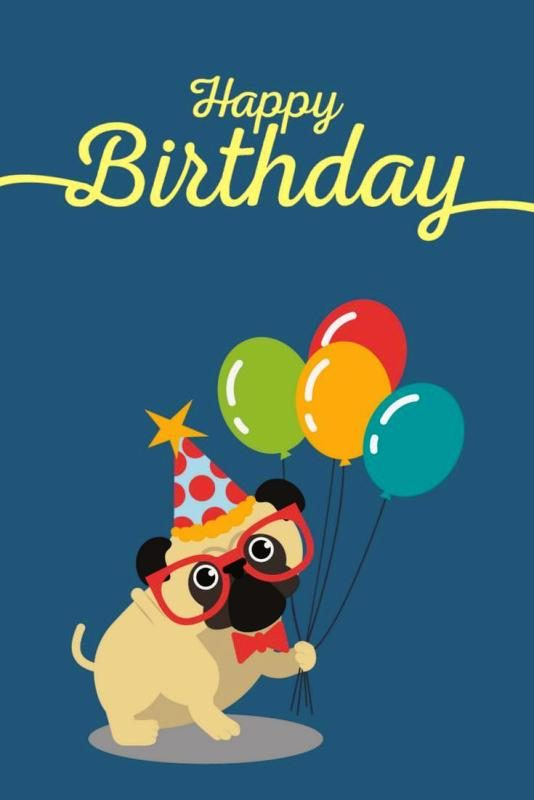 Happy Birthday From Pug 534x800
